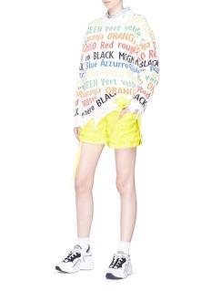 MSGM Petersham ribbon tweed shorts
