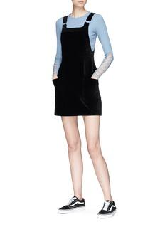 Topshop 'Lattice' crisscross cutout sleeve rib knit crop top