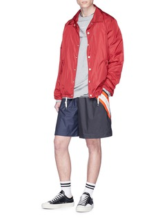 FACETASM Colourblock rib knit stripe shorts