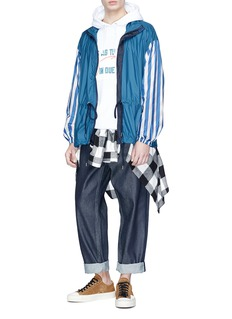 FACETASM Stripe sleeve windbreaker jacket
