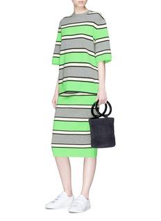 Marc Jacobs Stripe cashmere knit pencil skirt
