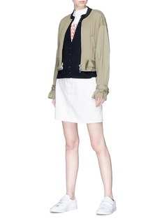 Marc Jacobs 'Daisy' jacquard Merino wool cardigan