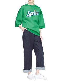 Marc Jacobs 'Sprite' sequin logo oversized wool blend sweatshirt