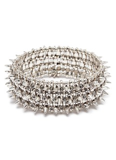 Philippe Audibert 'Amelia Aby' stud Swarovski crystal three row elastic bracelet