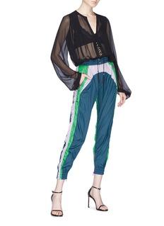 Isabel Marant 'Raruso' colourblock cropped track pants