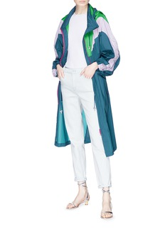 Isabel Marant 'Rumber' retractable hood colourblock raincoat