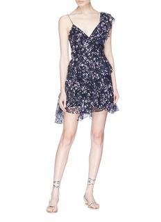 Isabel Marant 'Manda' one-shoulder floral print voile dress