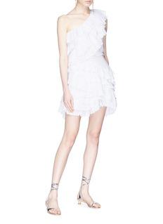 Isabel Marant 'Zeller' one-shoulder tiered broderie anglaise dress