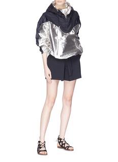 Isabel Marant 'Richie' waterproof hooded lamé jacket