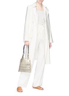 Sonia Rykiel Sash tie silk blend coat