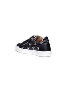 Giuseppe Zanotti Design Logo print double zip saffiano kids sneakers