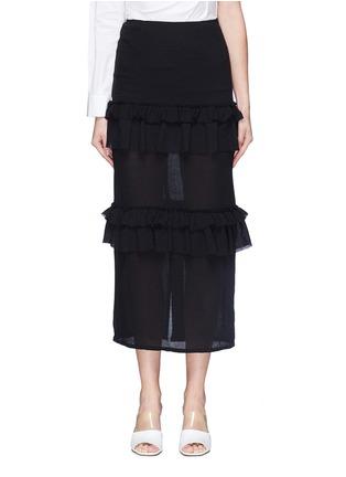 Georgia Alice 'Goldie' tiered ruffle virgin wool crepe skirt ...