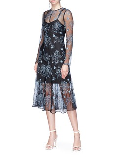 Georgia Alice 'Debutante' floral embroidered pleated lace dress