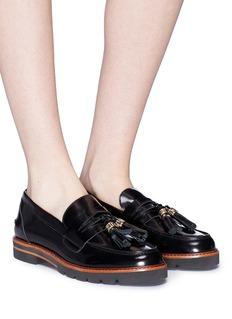 STUART WEITZMAN Manila流苏装饰漆皮乐福鞋