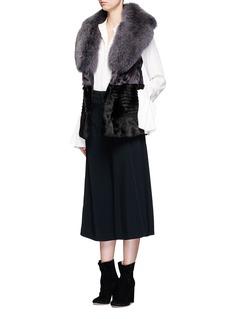 FUREVER Colourblock mink and fox fur gilet