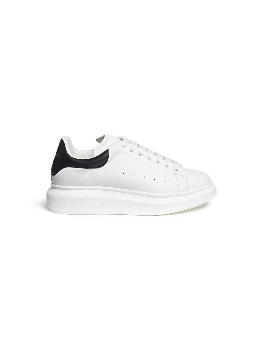 Main View - Click To Enlarge - Alexander McQueen - 'Larry' chunky outsole  leather