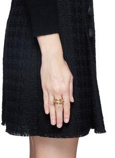 Spinelli Kilcollin 'Lyra Gold' diamond 18k gold four link ring