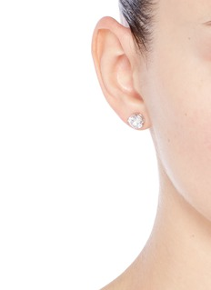 CZ by Kenneth Jay Lane Round cut cubic zirconia large stud earrings