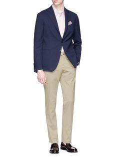 INCOTEX Royal Batavia 棉质斜纹布修身长裤