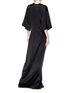 Elissa McGowan 'Elysian' satin maxi kimono dress