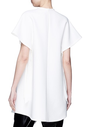 Back View - Click To Enlarge - Elissa McGowan - 'Moody' sash tie sleeve oversized crepe top
