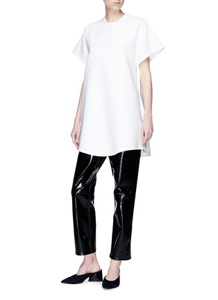 Figure View - Click To Enlarge - Elissa McGowan - 'Moody' sash tie sleeve oversized crepe top