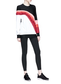 No Ka'Oi 'Nalu Nau' colourblock ruffle sweatshirt