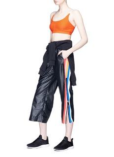 No Ka'Oi Zip stripe outseam wide leg track pants