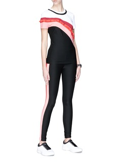 No Ka'Oi 'Nalu Palua' stripe outseam performance leggings