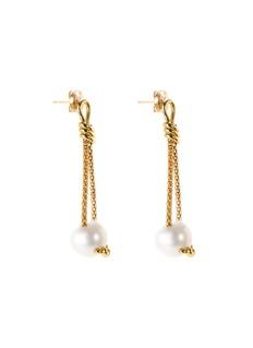 Tasaki Pearl 18k yellow gold drop earrings