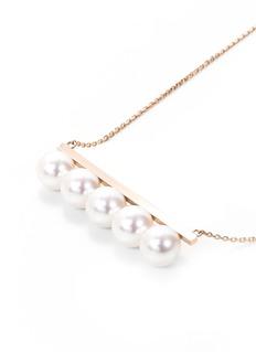 Tasaki 'Thakoon' pearl 18k rose gold necklace