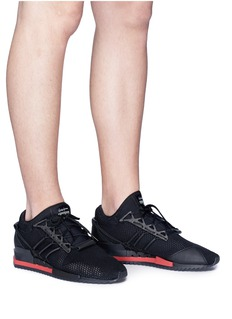Y-3 Y-3 HARIGANE真皮拼接针织运动鞋