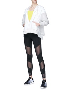 Monreal London 'Waterfall' mesh panel performance leggings