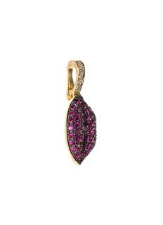 Khai Khai 'Gummy Lips' diamond ruby clip-on charm