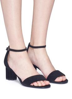 Salvatore Ferragamo 'Eraclea' flower heel suede sandals