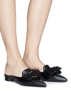 Salvatore Ferragamo 'Vieste' peony petal flower heel leather mules