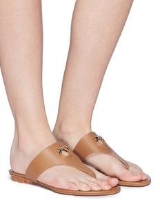 Salvatore Ferragamo 'Enfola' calfskin leather thong sandals