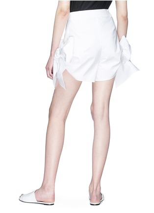 Back View - Click To Enlarge - Xiao Li - Bow cuff poplin shorts
