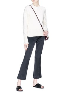 The Row 'Beca' cropped flared satin pants