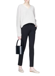 The Row 'Arabelle' cashmere-silk rib knit sweater