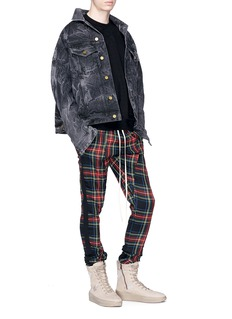 Fear of God 'Holy Water' tie-dye washed selvedge denim jacket