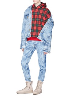 Fear of God 'Holy Water' tie-dye washed denim jacket