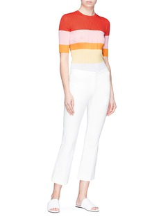 Emilio Pucci Colourblock stripe rib knit sweater