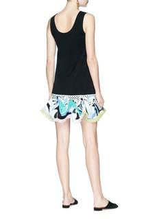 Emilio Pucci Ruffle graphic print peplum sleeveless dress