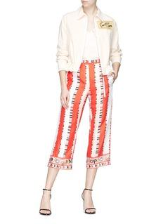 Emilio Pucci Graphic stripe print silk twill culottes