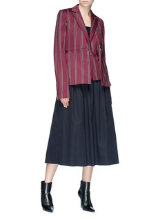 rokh Stripe layered blazer