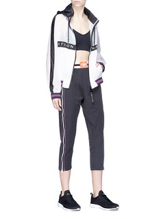 P.E Nation 'Track And Field' zip outseam cropped pants