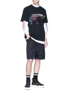 Alexander Wang  'AWG' logo graphic print long sleeve T-shirt