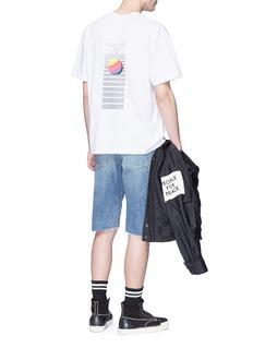 ALEXANDER WANG  AWG条纹印花纯棉T恤