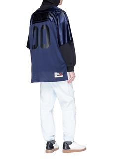 ALEXANDER WANG  拼接设计双层衣袖纯棉连帽卫衣